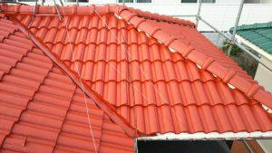 モニエル屋根 塗装後