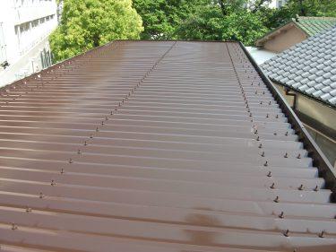 折版屋根シリコン塗装